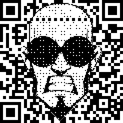 Halftone QR with background bleed