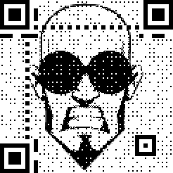 Halftone QR without background bleed